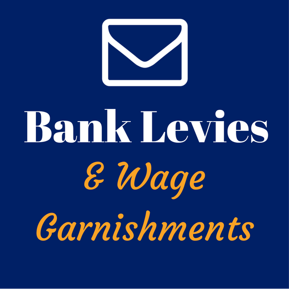 bank levies and wage garnishment help service san diego california
