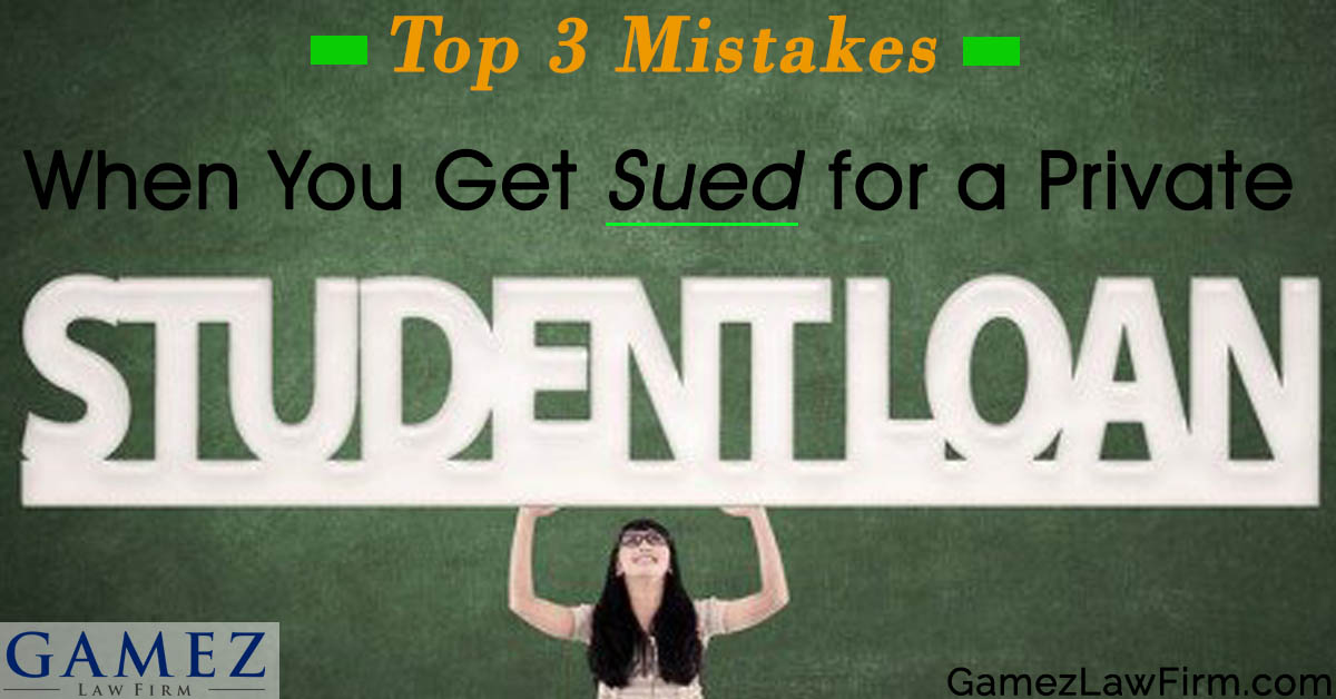 Getting sued for private student loan mistakes