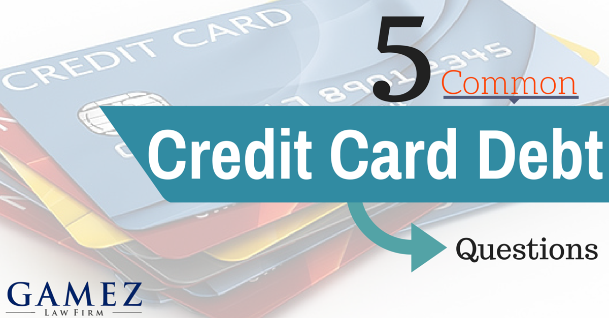 common credit card debt questions