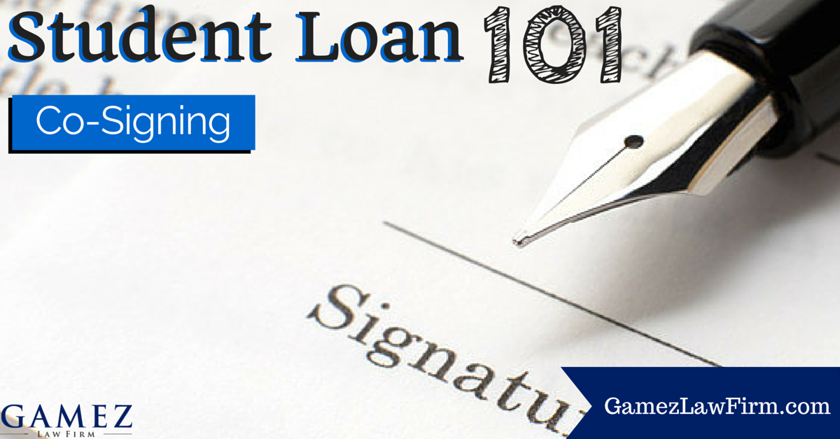 cosigning on a student loan 101