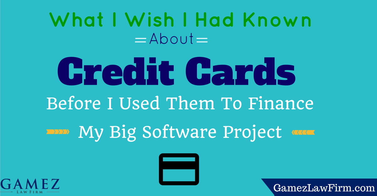 small business credit card debt for financing software project