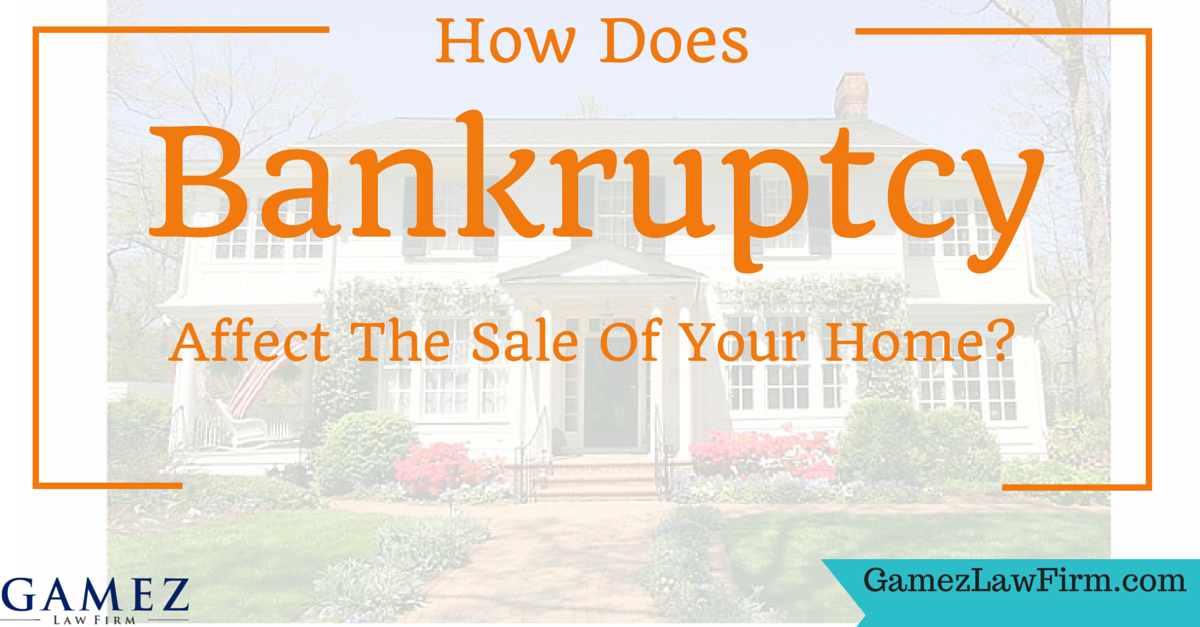 how bankruptcy affects the sale of your home