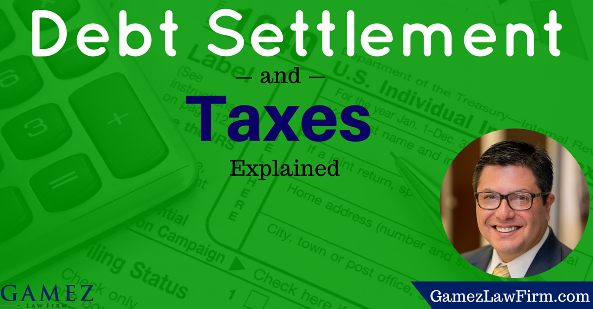 taxes and debt settlement
