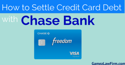 how to settle credit card debt with chase bank in san diego