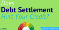 does debt settlement hurt your credit score