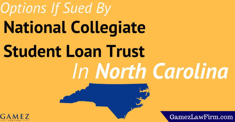 options if sued by national collegiate student loan trust