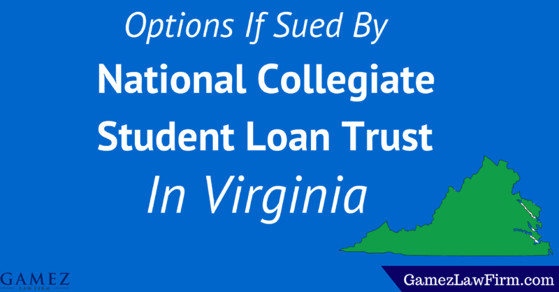 national collegiate student loan trust lawsuit Virginia
