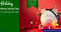 holiday money saving tips to avoid holiday debt