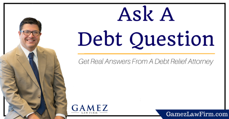 ask a debt question to an debt attorney