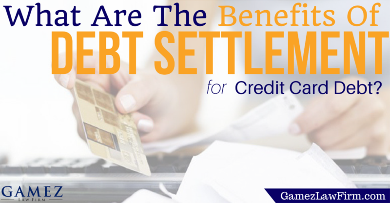 what are the benefits of debt settlement for credit card debt