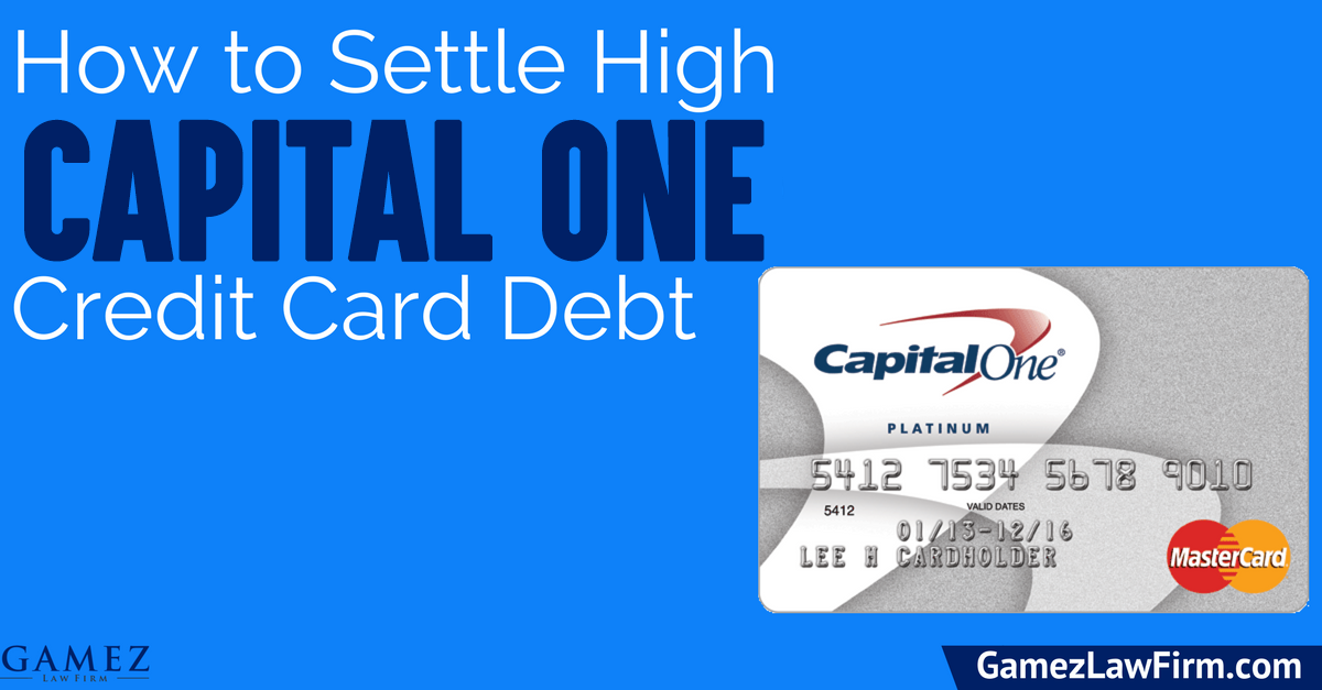 how to settle capital one credit card debt