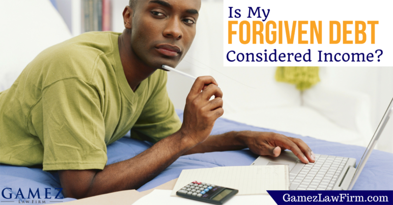 is my forgiven debt considered income and taxable