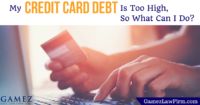 what can i do about high credit card debt