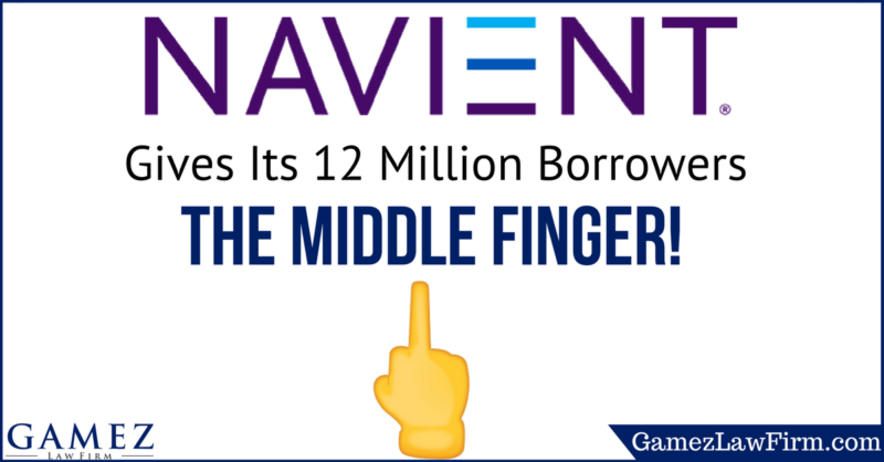 Navient Gives Its 12 Million Student loan Borrowers the Middle Finger!