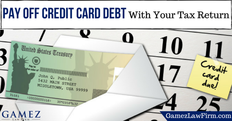 pay off credit card debt with your tax returns